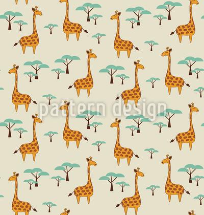 Niedliche Giraffen Nahtloses Vektormuster
