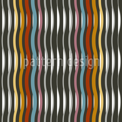Waved Stripes Are Never Boring Repeating Pattern