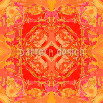 Barock Rose Vektor Muster