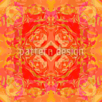 Baroque Rose Vector Pattern