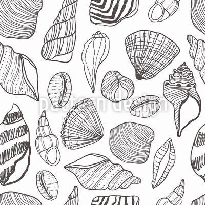 Outline Seashells Design Pattern