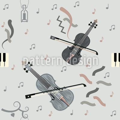 Play Violin Seamless Vector Pattern