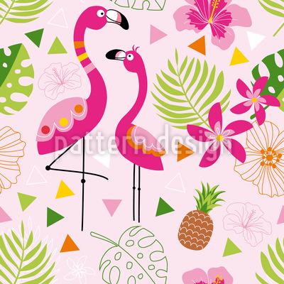 Tropisches Flamingo Paradies Rapportiertes Design