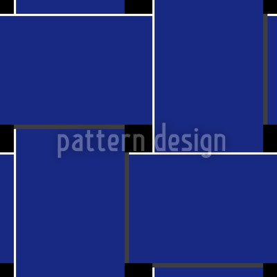 Blue Weave Seamless Vector Pattern Design