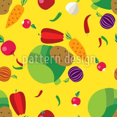 Vegetables Vector Ornament