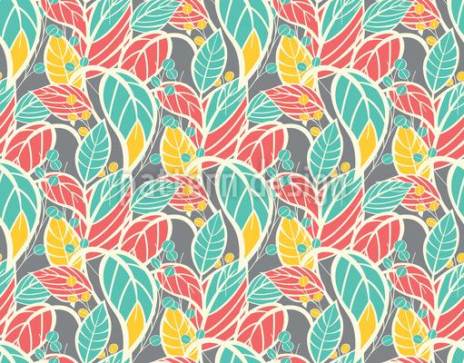 Blätter Wachsen Vektor Muster