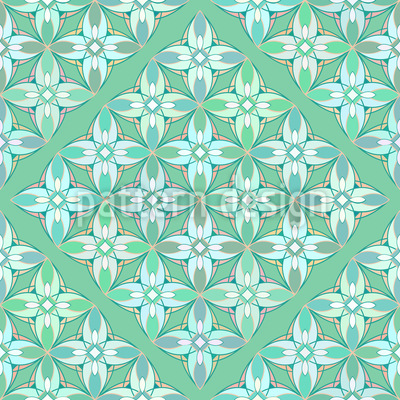 Hortensien Geometrie Muster Design
