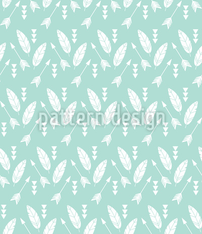 Adventure Arrows And Feathers Seamless Pattern