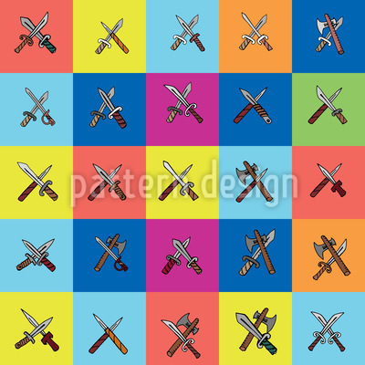 Crossed Knife Vector Design