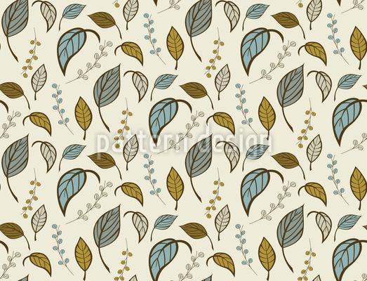 Blätter Allein Muster Design