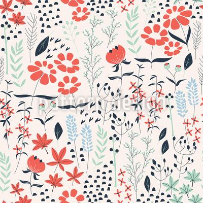 Magischer Frühlings Garten Nahtloses Muster