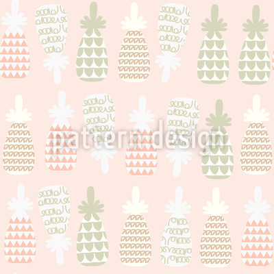 Pineapple Summer Fun Vector Pattern