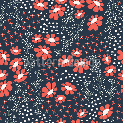 Japanese Summer Night Vector Pattern