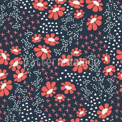 Japanische Sommernacht Vektor Muster
