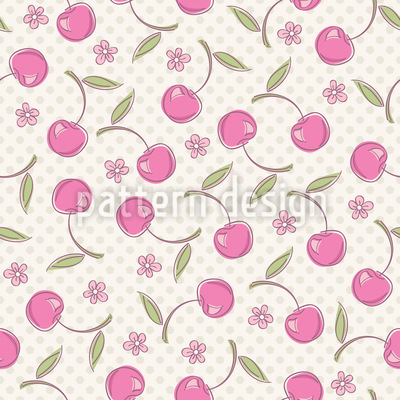 Polkadot And Cherries Design Pattern