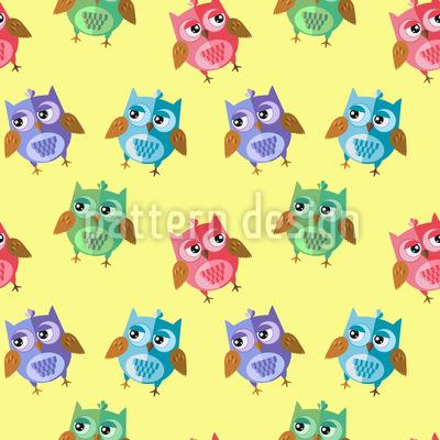 Eulen Kids Muster Design