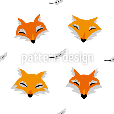Foxes And Feathers Design Pattern