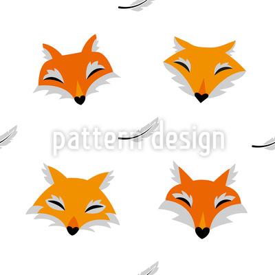 Füchse und Federn Designmuster