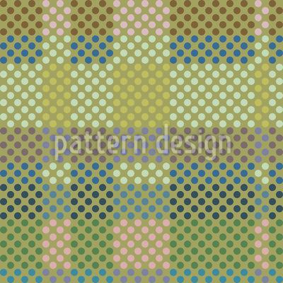 Von Karos Und Punkten Rapportiertes Design