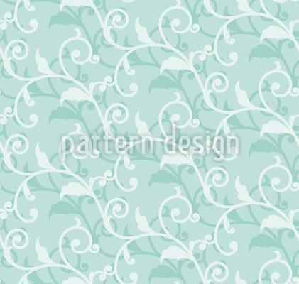 Cirrus Floral Design de padrão vetorial sem costura