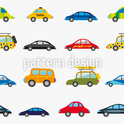 Funny Cars Seamless Vector Pattern Design