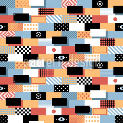 Bricks Mix Vector Ornament