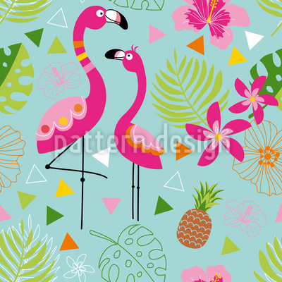 Exotisches Flamingo Paradies Musterdesign