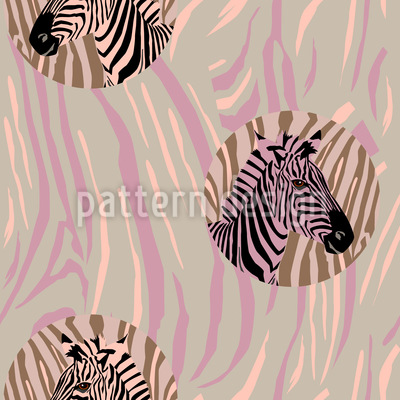 Zebra Fashion Seamless Vector Pattern Design