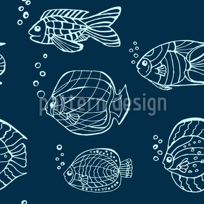 Clear Fishes Repeat Pattern