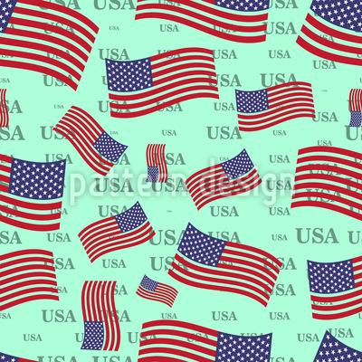 US Flagge Vektor Ornament