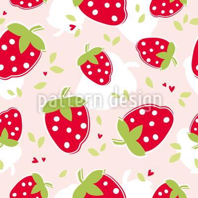 Erdbeer Liebhaber Nahtloses Vektormuster