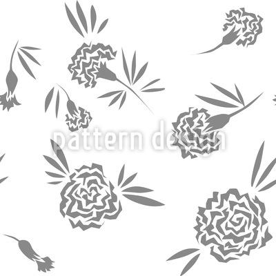 Carnation Flowers Pattern Design