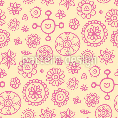 Some Flowers Pattern Design