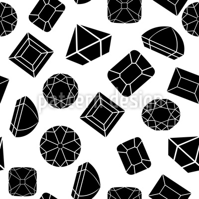 Diamonds And Jewels Seamless Vector Pattern Design