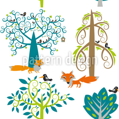 The Whispering Forest Vector Design