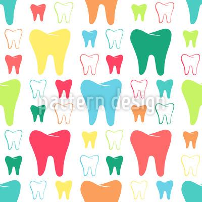 Glänzende Zähne Nahtloses Vektormuster