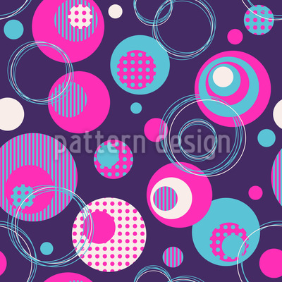 Dot And Circle Mix Vector Ornament