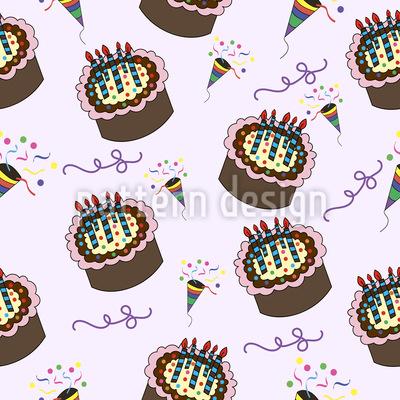 Party mit Kuchen Vektor Design