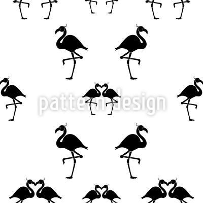 Flamingo Tango Vektor Ornament