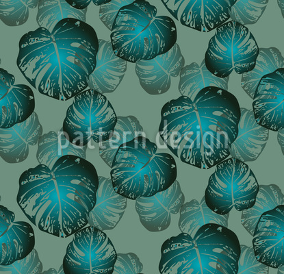 Monstera Thicket Vector Pattern
