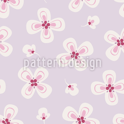 Zarte Blüten Musterdesign