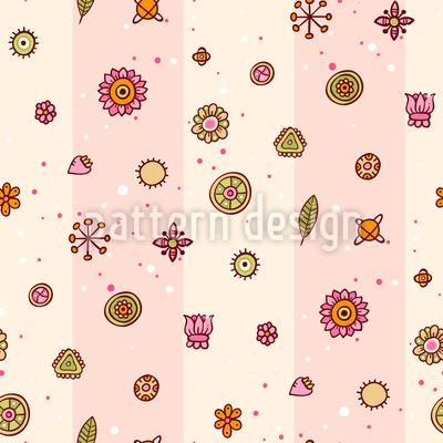 Wähle Deine Blume Vektor Muster