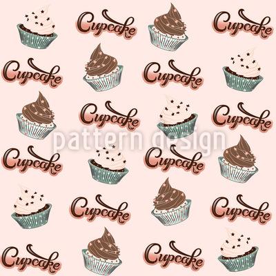 Cupcake Träume Nahtloses Vektormuster