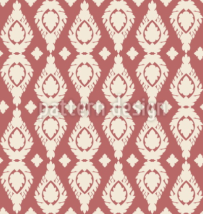 Thai Damask Pattern Design