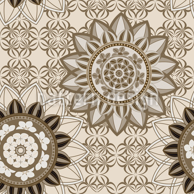 Mandala Flower Mix Vector Ornament