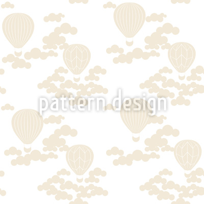 Hot Air Balloon Ride Seamless Pattern