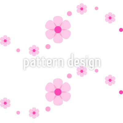 Flower Power Welle Nahtloses Vektor Muster