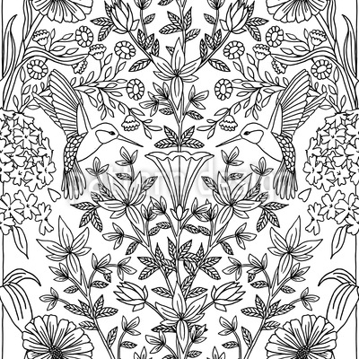Hummingbirds Repeating Pattern