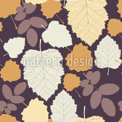 Blätter in meinem Garten Nahtloses Vektor Muster