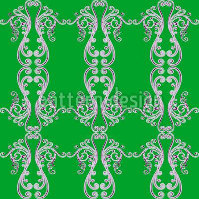 Gespiegelte Schnörkel Muster Design